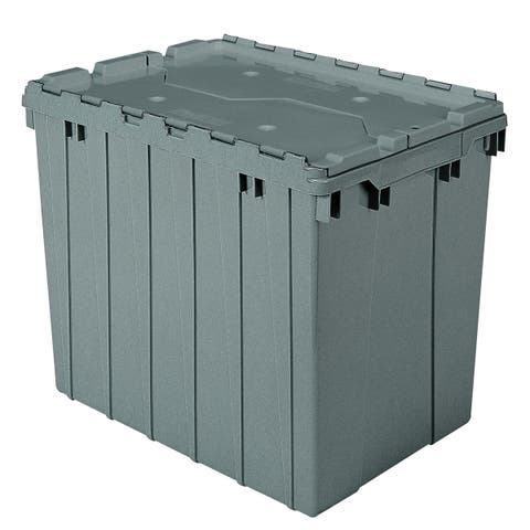 Akro-Mils Grey 17 gal. Attached-lid Container (pack of 3)