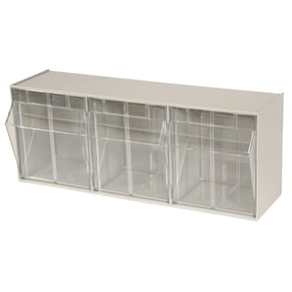 Akro-Mils TiltView Tan Plastic 3-bin Cabinet
