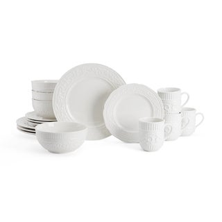 Mikasa American Countryside White Earthenware 16-piece Dinnerware Set