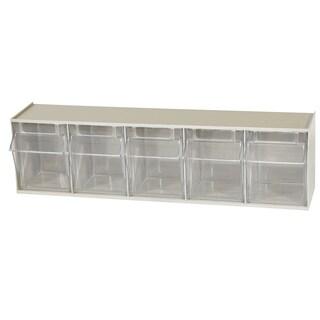 Akro-Mils TiltView Tan Plastic 5-bin Cabinet