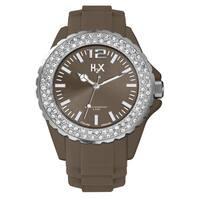 H2X Women's  Reef Stones Luminous Water Resistant Brown Soft Rubber Watch