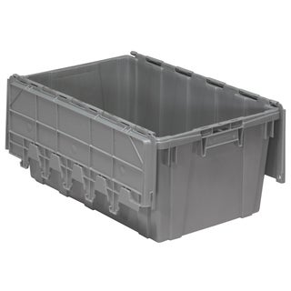 Akro-Mils Grey Plastic 17-gallon Container With Attached Lid