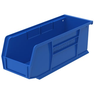Akro-Mils AkroBin Blue Plastic Bin Organizer (Pack of 12)