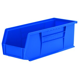 Akro-Mils AkroBin Blue Plastic 14.75 x 5.5 x 5-inch Organizer (Pack of 12)