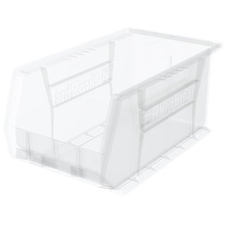 Akro-Mils AkroBin Clear Plastic 14 3/4 x 8 1/4 x 7-inch Organizer (Pack of 12)