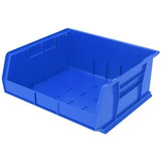 Akro-Mils AkroBin Blue Plastic 14.75 x 16.5 x 7-inch Bin Organizer (Pack of 6)