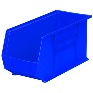 Akro-Mils AkroBin Blue Plastic 18 x 8.125 x 9-inch Bin Organizer (Pack of 6)