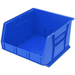 AkroBin Blue Plastic 18 x 16.5 x 11-inch Bin Organizer (Pack of 3)