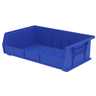 Akro-Mils AkroBin Blue Plastic 16.5-inch Bin Organizer (Pack of 6)