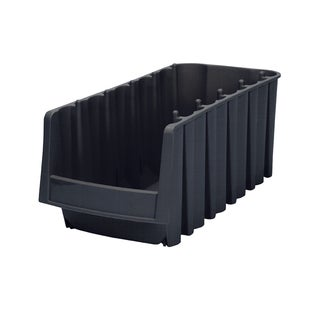 Akro-Mils Black Plastic Economy Shelf Bin (Pack of 8)