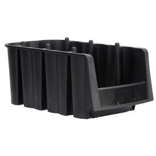 Akro-Mils Black Plastic 8 7/8 x 6 5/8 x 5-inch Economy Shelf Bin (Pack of 10)