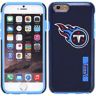 Forever Collectibles Tennessee Titans Blue Silicone, TPU iPhone 6 Impact Dual Hybrid 2-piece Case
