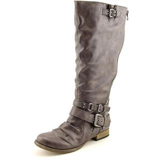 Carlos Santana Women's Hanna 2 Brown Faux Leather Riding Boots