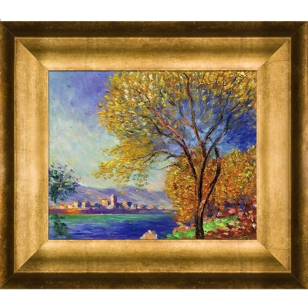 Claude Monet 'Antibes, View of Salis' Hand Painted Framed Canvas Art. Opens flyout.