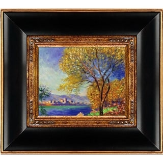 Claude Monet 'Antibes, View of Salis' Hand Painted Framed Canvas Art