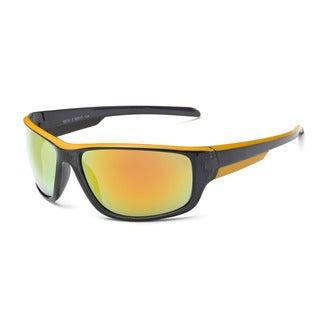 Sapce Grey and Orange Frame Acetate 68mm Sport Sunglasses with Orange Tinted Lens