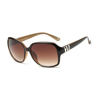 Dark Brown Framed Square Sunglasses With Tawny 57-millimeter Lens and Chestnut-inside Arms