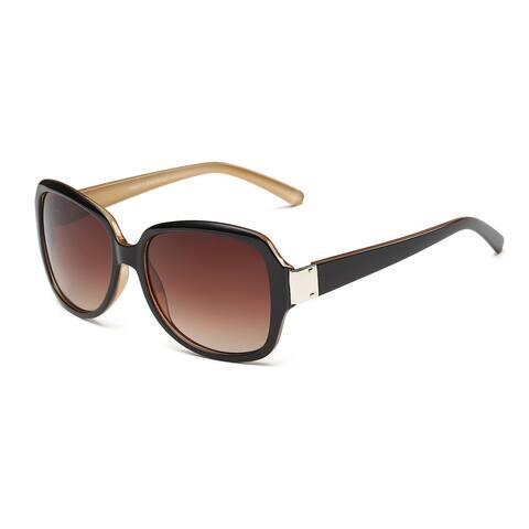 Wayfarer Brown Acetate Rectangular Full Frame Sunglasses