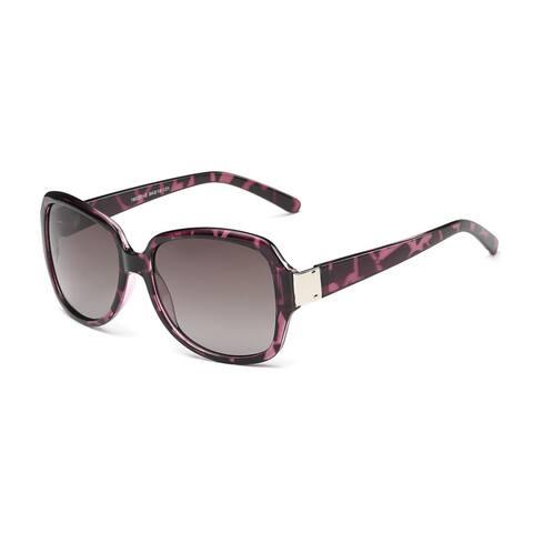 Purple Turtoise Square Sunglasses with Dark Grey Lenses