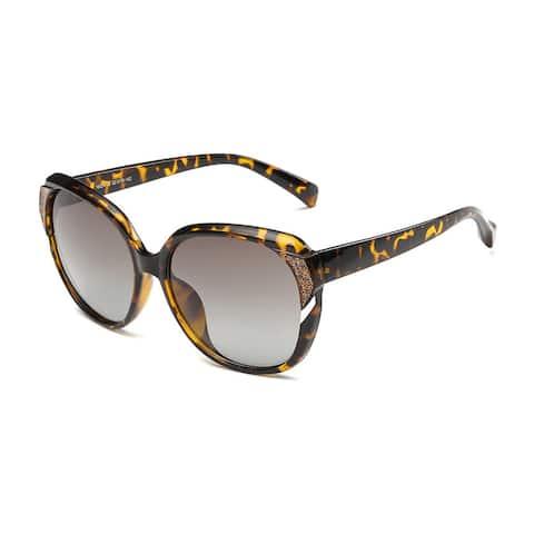 Tortoise Frame Acetate 52-millimeter Sunglasses with Dark Grey Lens