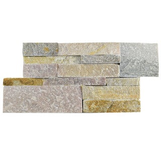 SomerTile 7x13.5-inch Piedra Honey Natural Stone Wall Tile (48 tiles/31.5 sqft.)