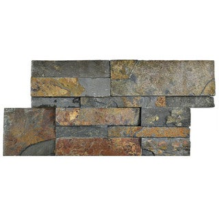 SomerTile 7x13.5-inch Piedra Rusty Slate Natural Stone Wall Tile (48 tiles/31.5 sqft.)