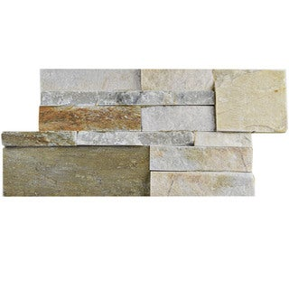 SomerTile 7x13.5-inch Piedra Sunstone Natural Stone Wall Tile (Pallet of 48)