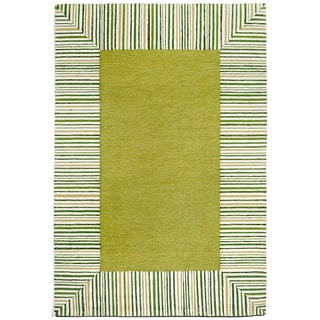 Pencil Stripe Border Outdoor Rug (3'6 x 5'6)