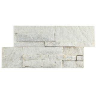 SomerTile 7x13.5-inch Piedra White Quartzite Natural Stone Wall Tile (Pallet of 48)|https://ak1.ostkcdn.com/images/products/12095094/P18958670.jpg?impolicy=medium