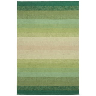 Handmade Green Tonal Outdoor Rug (8'3 x 11'6)