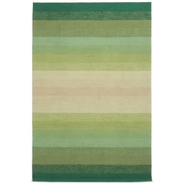 Handmade Green Tonal Outdoor Rug (8'3 x 11'6)