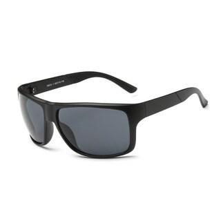 Matte Black Frame, Square Sunglasses with Dark Grey 62-millimeter Lens
