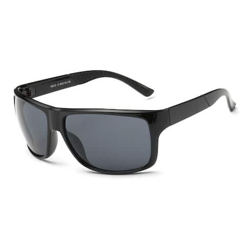 Wayfarer Black Square-shaped Sunglasses with Dark Grey 62-millimeter Lenses