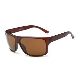 Chestnut Acetate Frame Square Sunglasses With Tawny 62-millimeter Lens