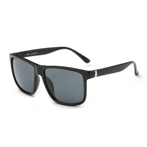 Icon Black Acetate Rectangular Full-frame Sunglasses
