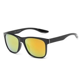 Black Acetate Rectangular Full-frame Sunglasses
