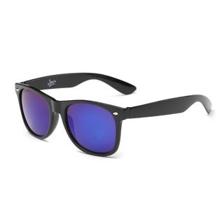 Shiny Black Framed Sunglasses with Blue Tinted Lens