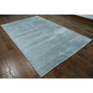 Grey Silk Oriental Persian Hand-knotted Rug (5'1 x 8'2)