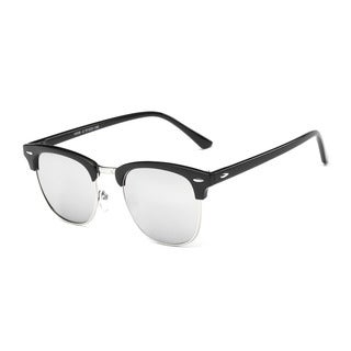 Wayfarer Icon Black Acetate Oval Semi-rimless Sunglasses