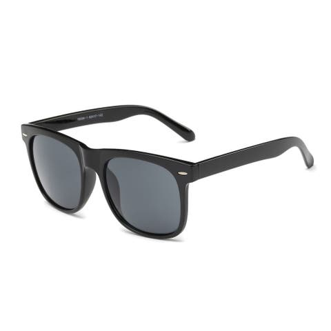 Wayfarer Black Acetate Rectangular Full-frame Sunglasses