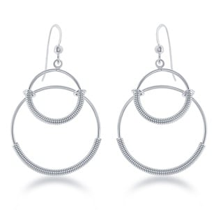 La Preciosa Sterling Silver Double Circle Earrings