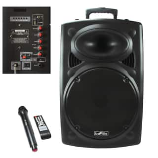 beFree Sound 15-inch Bluetooth-powered Portable PA Speaker