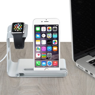 Aluminum Dual Apple Watch Stand and iPhone Dock