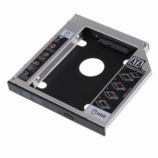 SATA 2nd HDD Hard Drive Caddy Case for 12.7-millimeter Universal Laptop CD/DVD-ROM Optical Bay