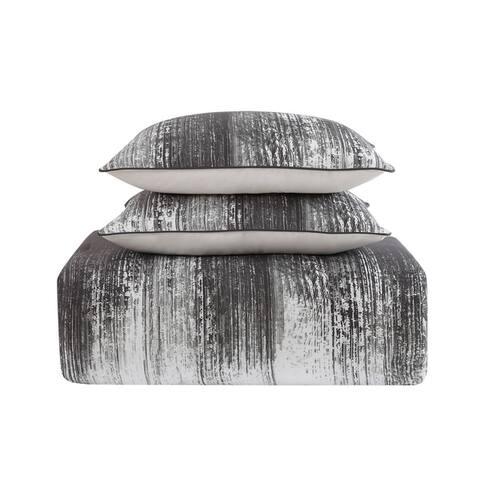 Vince Camuto Lyon Two-tone Brushstroke Comforter Set