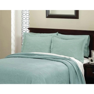 Vibrant Solid Cotton Quilted French Tile Standard Sham