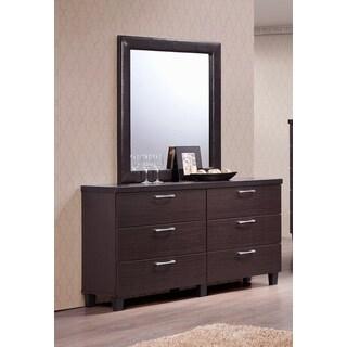 LYKE Home Brava Walnut Dresser and Mirror Combo