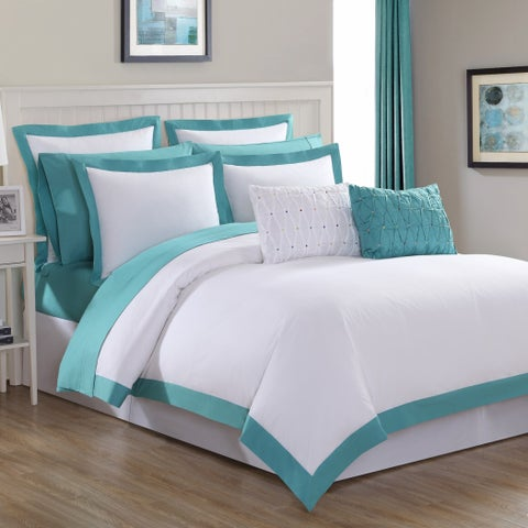 Fiesta Classic Two-Tone Cotton 2 & 3 Piece Duvet Set