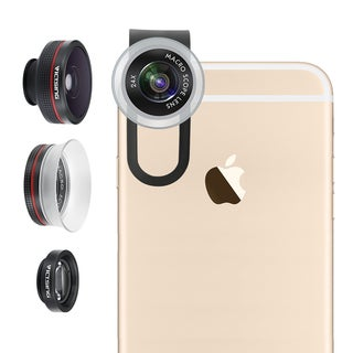 3-in-1 Fisheye Lens Clip-on Kit for Apple iPhone and Android Devices