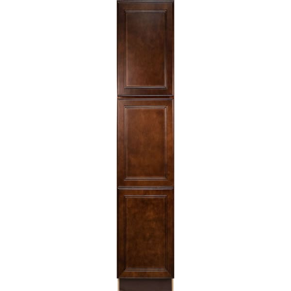 Everyday Cabinets Leo Saddle Cherry Mahogany 18-inch Bathroom Vanity Linen Cabinet  sc 1 st  Overstock.com & Shop Everyday Cabinets Leo Saddle Cherry Mahogany 18-inch Bathroom ...